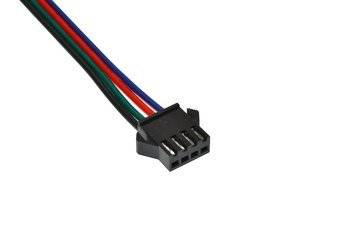 Connector 4-pin RGB LED strip - plug